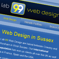 Lab 99 Web Design home page