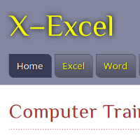 X-Excel computer training home page